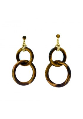 Double tiger eye earrings