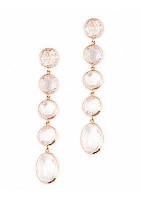 ROUND ICE EARRINGS