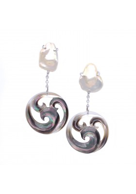 PENDIENTES GREY WAVES