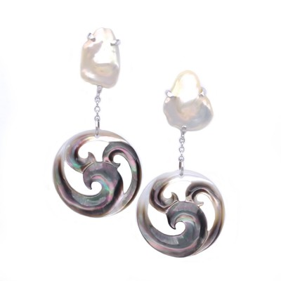GREY WAVE EARRINGS