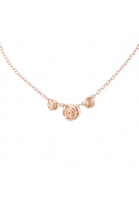 THREE ROSES NECKLACE